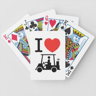 I Golf-Wagen des Herz-(Liebe) Bicycle Spielkarten