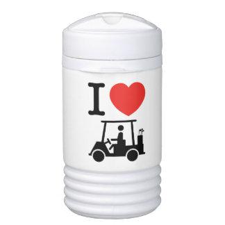 I Golf-Wagen des Herz-(Liebe) Igloo Getränke Kühlhalter