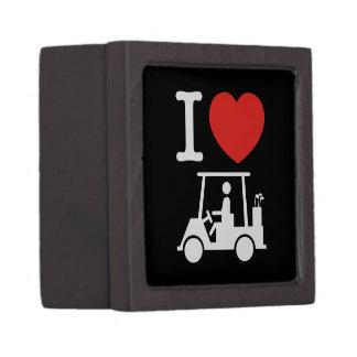 I Golf-Wagen des Herz-(Liebe) Kiste