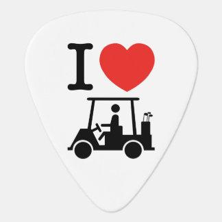 I Golf-Wagen des Herz-(Liebe) Plektron