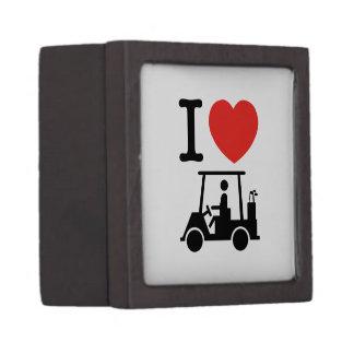 I Golf-Wagen des Herz-(Liebe) Schmuckkiste