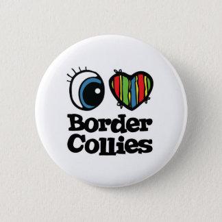 I GrenzCollies der Liebe-(Herz) Runder Button 5,1 Cm