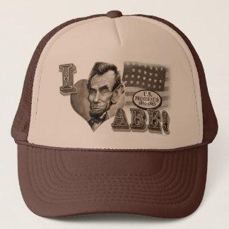 I Herz Abe Lincoln Truckerkappe