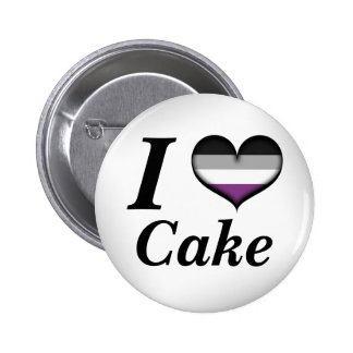 I Herz-asexualer Kuchen Runder Button 5,7 Cm
