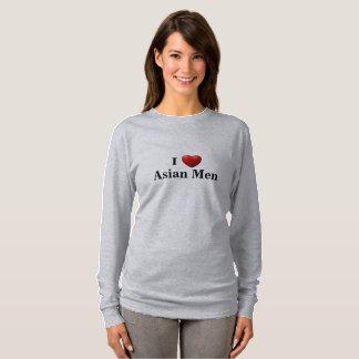I Herz-asiatische Männer - langer Hülsen-T - Shirt