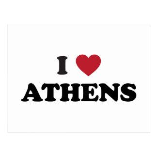 I Herz Athen Griechenland Postkarte