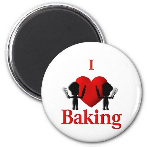 I Herz-Backen-Bäcker Magnete