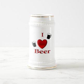 I Herz-Bier Stein Bierglas