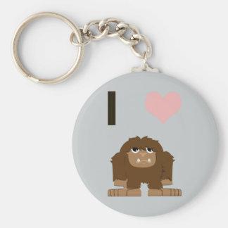 I Herz Bigfoot Schlüsselanhänger