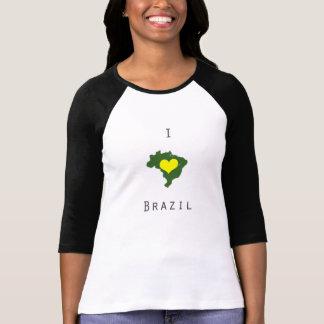 I Herz Brasilien 3/4 Hülsen-Shirt T-Shirt