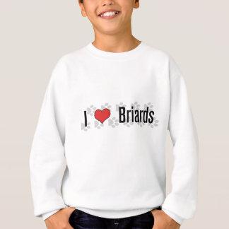 I (Herz) Briards Sweatshirt