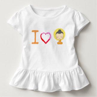 I Herz Buddha Kleinkind T-shirt