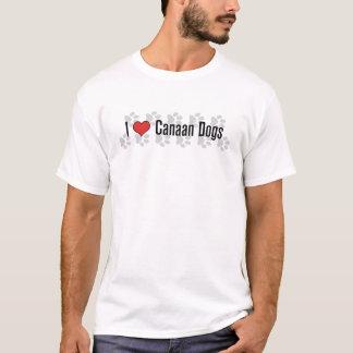 I (Herz) Canaan Hunde T-Shirt