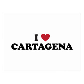 I Herz Cartagena Kolumbien Postkarte