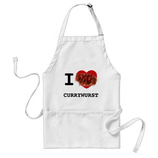 I Herz Currywurst Schürzen