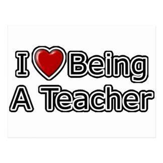 I Herz, das ein Lehrer ist Postkarte