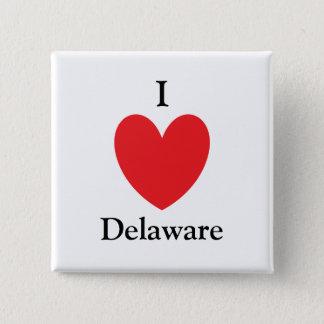 I Herz-Delaware-Knopf Quadratischer Button 5,1 Cm