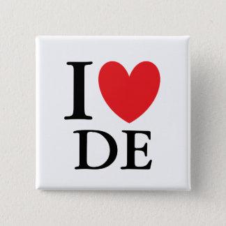I Herz Delaware Quadratischer Button 5,1 Cm