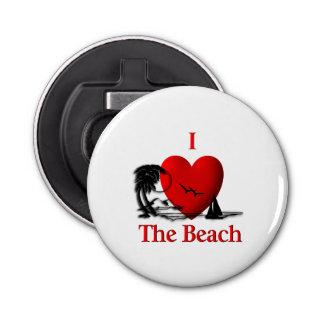 I Herz der Strand Runder Flaschenöffner