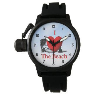 I Herz der Strand Uhr