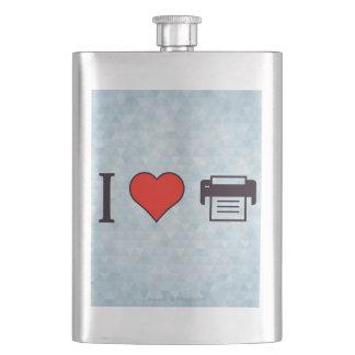 I Herz Druckkopien Taschenflaschen