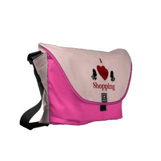 I Herz-Einkaufen Kurier Tasche