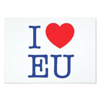 I Herz EU-Porto-Umschlag Karte