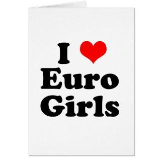 I Herz-Euro-Mädchen Karte