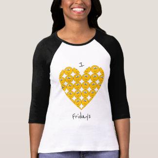 """I """"Herz"""" Freitag mit lächelndem Emojis T - Shirt"""