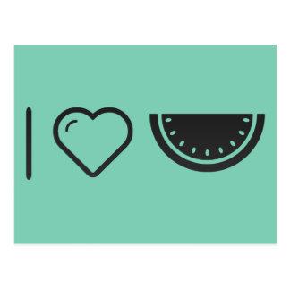I Herz-Frucht-Melonen Postkarte