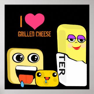 I Herz gegrillter Käse