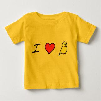I Herz (gelbes) Budgies Baby T-shirt