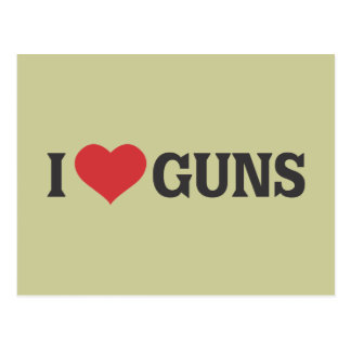 I Herz-Gewehre Postkarte