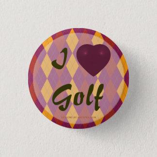 I Herz-Golf-tropische Raute Runder Button 2,5 Cm
