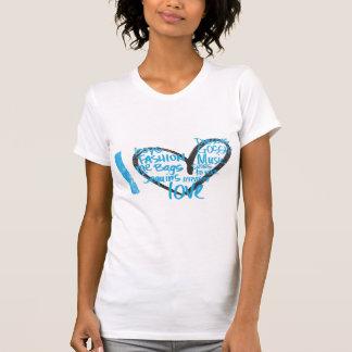 I Herz-Graffiti-Aqua T-Shirt