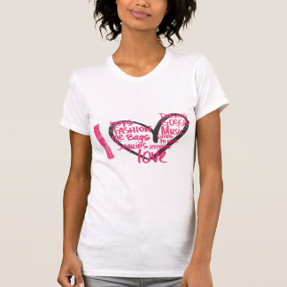 I Herz-Graffiti-Magenta T-Shirt