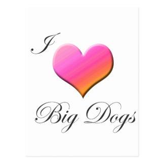 I Herz-große Hunde Postkarte