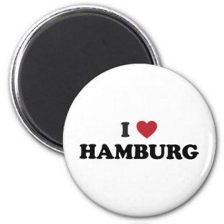 I Herz Hamburg Deutschland Runder Magnet 5,7 Cm