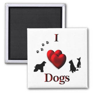 I Herz-Hunde Quadratischer Magnet