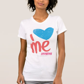 I Herz ich Aqua-Rosa T-Shirt