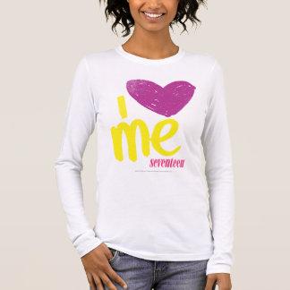 I Herz ich Lila-Gelb Langarm T-Shirt