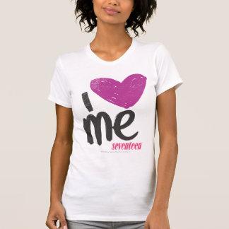 I Herz ich lila T-Shirt