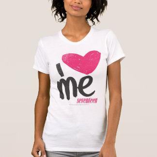 I Herz ich magentarot T-Shirt