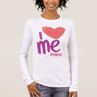 I Herz ich Rosa-Lila Langarm T-Shirt