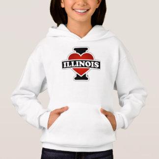 I Herz Illinois Hoodie