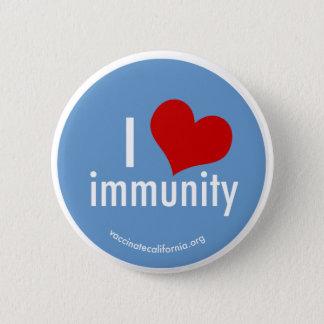 I Herz-Immunitäts-Knopf Runder Button 5,7 Cm