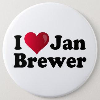 I Herz-Jan.-Brauer Runder Button 15,3 Cm