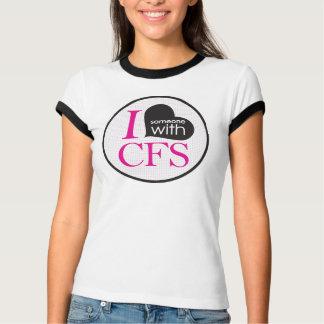 I {Herz} jemand mit CFS- (Rosa) T-Shirt