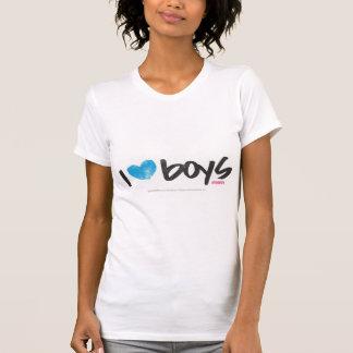 I Herz-Jungen-Aqua T-Shirt