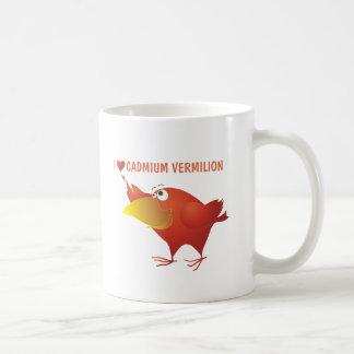 I Herz-KadmiumVermilion Kaffeetasse